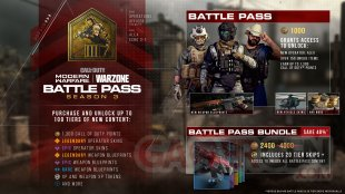 Call of Duty Modern Warfare Warzone Saison 3 trois Battle Pass