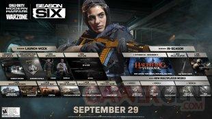 Call of Duty Modern Warfare Warzone Saison 6 Six 28 09 2020 roadmap