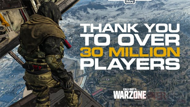 Call of Duty Warzone 30 millions