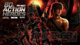 Call of Duty Warzone 80's Action Heroes artwork John Rambo McClane