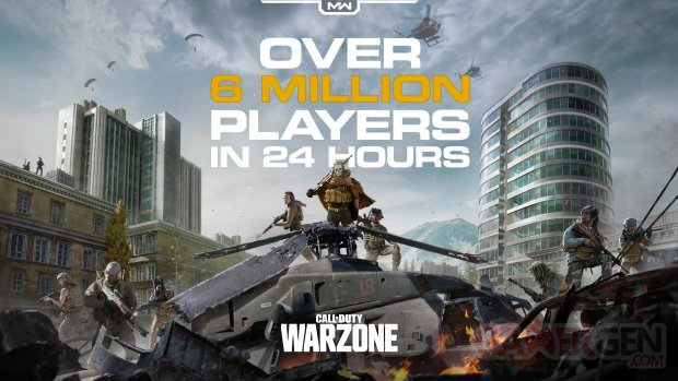 Call of Duty Warzone Chiffres 6 millions