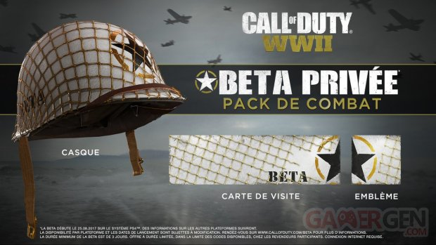 Call of Duty WWII beta bonus