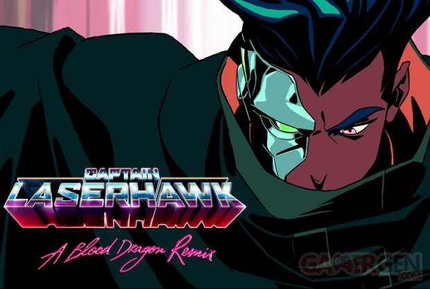 Captain Laserhawk A Blood Dragon Vibe key art