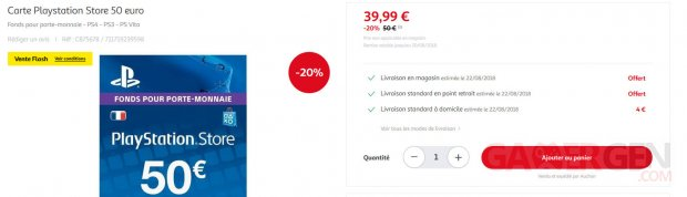 Carte PSN 50 euros images