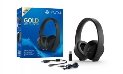 ps4 sony pr sente un nouveau casque micro sans fil or. Black Bedroom Furniture Sets. Home Design Ideas