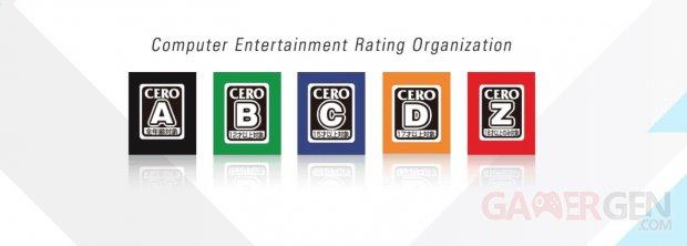 CERO Cero Computer Entertainment Rating Organization head logo banner