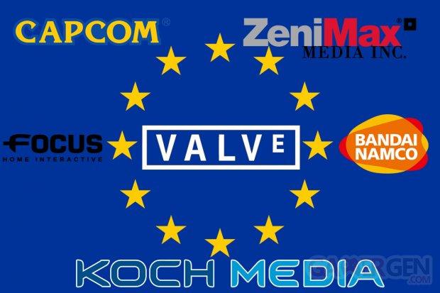 Commission Européenne Valve Bandai Namco Capcom Focus Home Interactive Koch Media ZeniMax Media