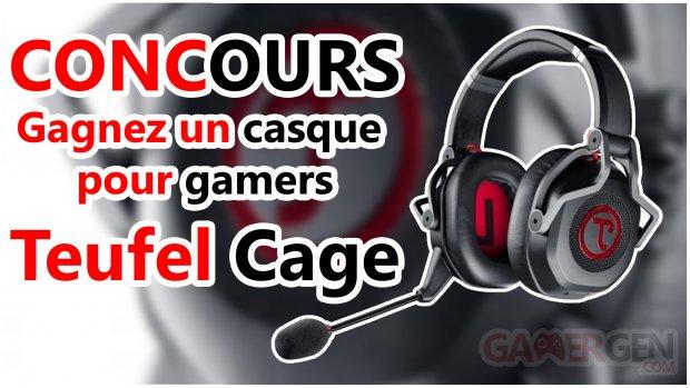 concours casque audio gamer teufel cage