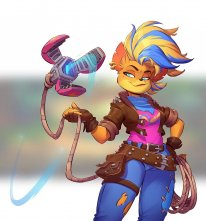 Crash Bandicoot 4 It's About Time Tawna art 3