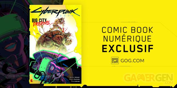 Cyberpunk 2077 Big City Dreams comic exclusif
