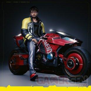 Cyberpunk 2077 Hideo Kojima moto bike