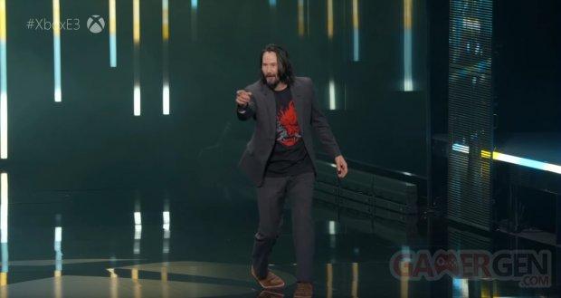 Cyberpunk 2077   Keanu Reeves On Stage Microsoft Xbox E3 2019