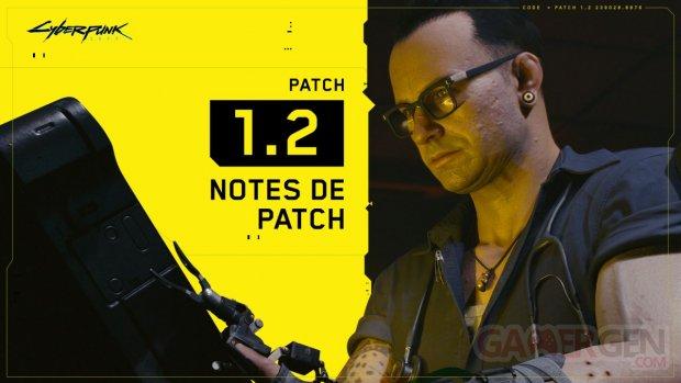 Cyberpunk 2077 mise à jour patch 1 2 notes