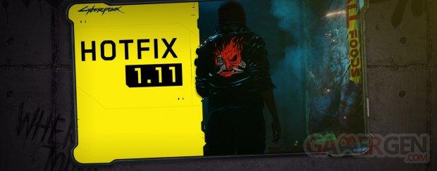 Cyberpunk 2077 patch hotfix 1 11