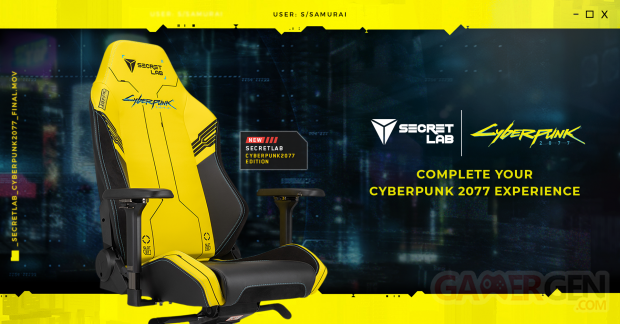 Cyberpunk 2077 Secretlab gaming chair 03 26 06 2020