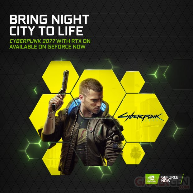 Cyberpunk 2077 with RTX ON on GeForce NOW