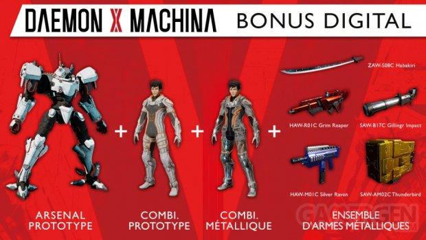 Daemon X Machina bonus précommande eShop 22 07 2019