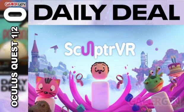 Daily Deal Oculus Quest 2021.04.20   SculptrVR
