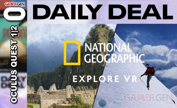 Daily Deal Oculus Quest 2021.04.22   National Geographic Explore VR