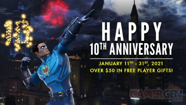 DC Universe Online 10th Anniversary head