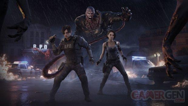 Dead by Daylight 25 05 2021 Chapitre Resident Evil key art fond écran wallpaper