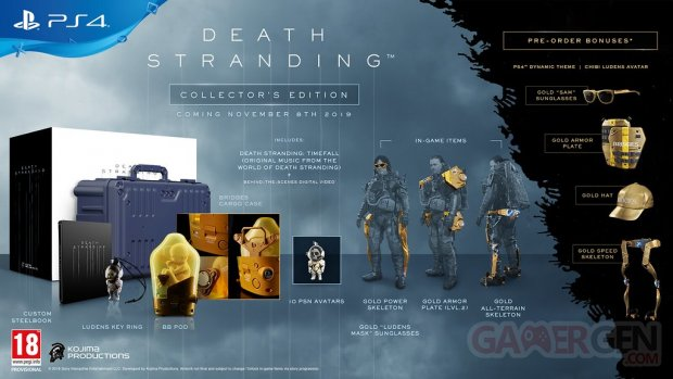 Death Stranding édition collector 29 05 2019
