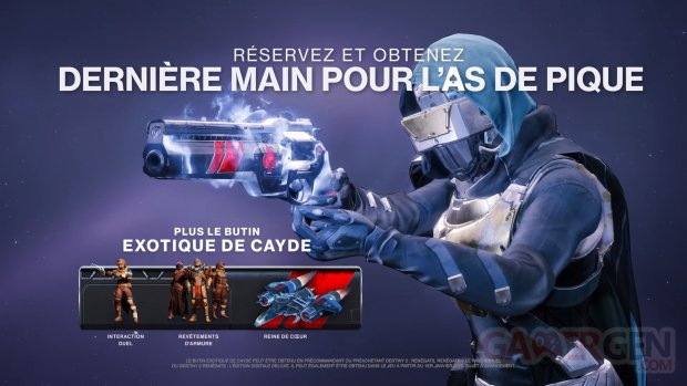 Destiny 2 bonus précommande Renégats 26 07 2018