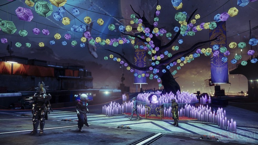 Destiny 2 Fête ames perdues 2018 décorations Tour