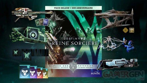 Destiny 2 La Reine Sorcière pack Deluxe 30e anniversaire 01 25 08 2021