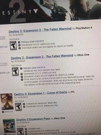 Destiny 2 leak GameStop The Fallen Warmind 02 09 03 2018