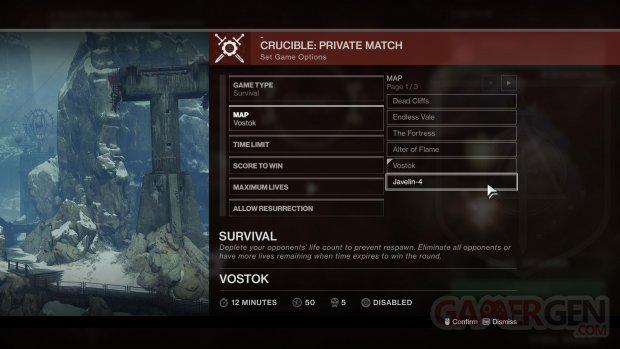 Destiny 2 pvp matchs privés 12 01 2018