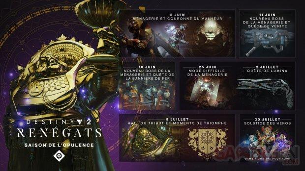 Destiny 2 Renégats Saison de l'Opulence 28 05 2019