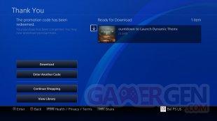 Destiny 2 thème dynamique gratuit Countdown to Launch PS4 3