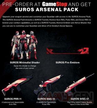 Destiny Le Roi des Corrompus Suros Arsenal Pack