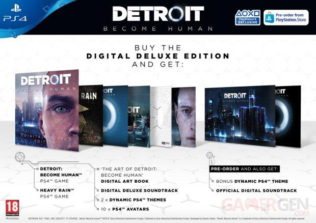 Detroit Become Human édition deluxe numérique 02 03 2018