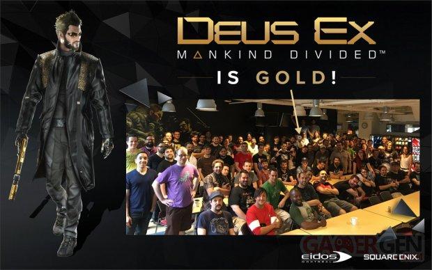 Deus Ex Mankind Divided is Gold