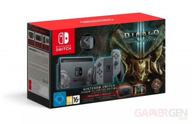 Diablo 3 Eternal Collection pack Nintendo Switch collector 15 10 2018