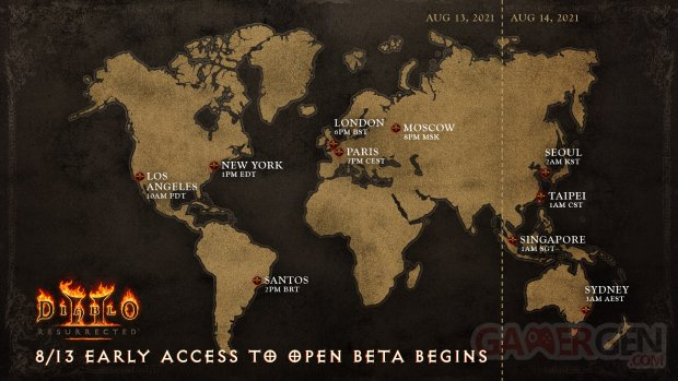 Diablo II Resurrected dates heures bêta ouverte accès anticipé