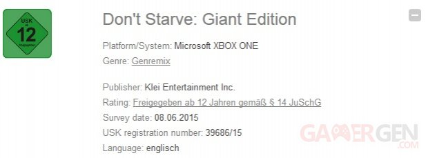 Don't Starve Giant Edition Xbox One