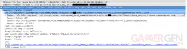 données spyware