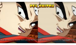Dragon ball FighterZ comparaison video Switch PS4 image