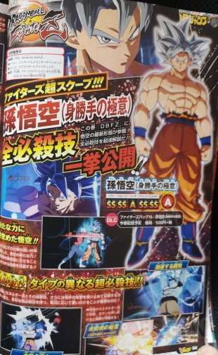 Dragon Ball FighterZ scan Gokû Ultra Instinct 01 19 03 2020