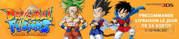 dragon ball fusions 3DS deal rush on game bannière