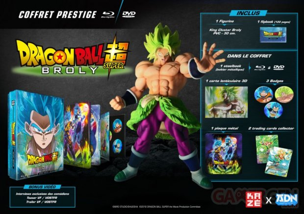Dragon Ball Super Broly coffret prestige 24 07 2019