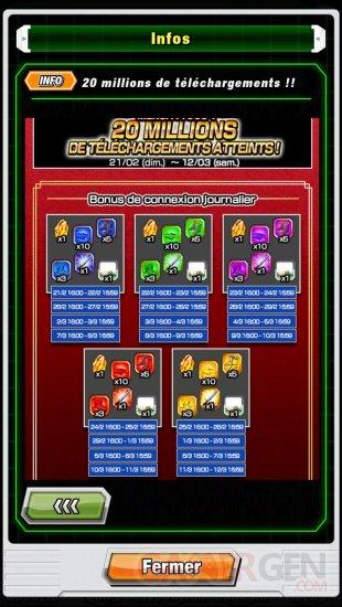 Dragon Ball Z Dokkan Battle 20 millions telechargements cadeaux (3)
