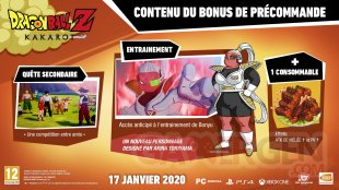 Dragon Ball Z Kakarot bonus précommande fr 12 09 2019