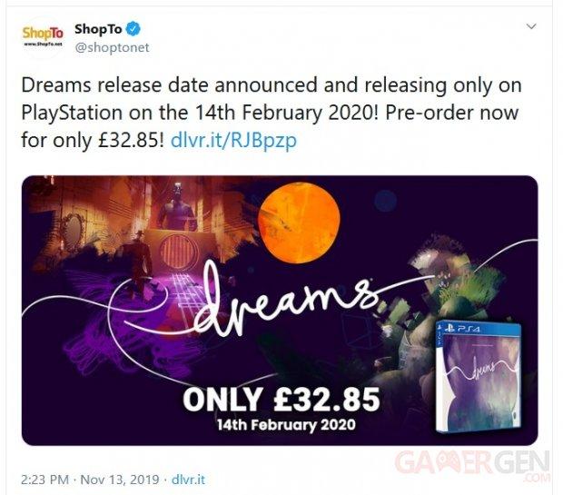 Dreams tweet