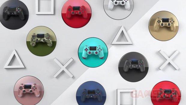 DualShock 4 coloris hardware couleurs