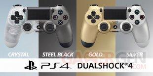 DualShock 4 PS4 Crystal Steel Black Gold Silver