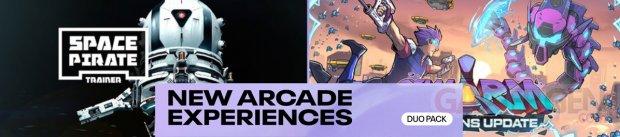 Duo Pack Banniere Nouvelles expériences arcade